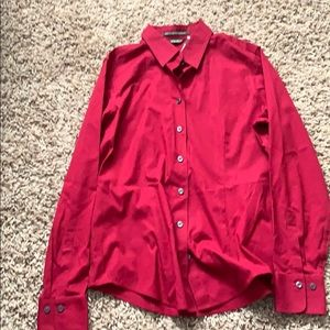 A red button up long sleeve